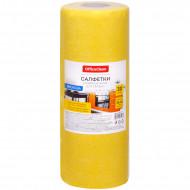 Салфетки для уборки OfficeClean, 25*25, вискоза, 30шт., желтые, в рулоне