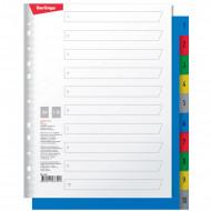 Разделитель листов Berlingo А4+, 10 листов, цифровой 1-10, цветной, пластиковый