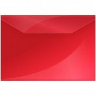 Папка-конверт на кнопке OfficeSpace  А4, 150мкм, красная