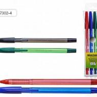 Ручка шариковая Mazari M-7302, зеленая, 0,5 мм