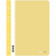 Папка-скоросшиватель пластик. перф. Berlingo, А4, 180мкм, желтая