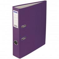 Папка-регистратор OfficeSpace, 50мм, бумвинил, с карманом на корешке, фиолетовая