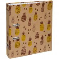 """Папка-регистратор Berlingo """"Pineapple"""", 70мм, крафт-бумага, с рисунком ананасов"""