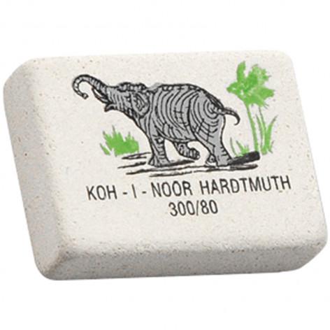 """Ластик Koh-I-Noor """"Elephant"""" 300/80, прямоугольный, натуральный каучук, 26*18,5*8мм, цветной"""
