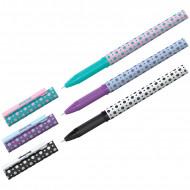 """Ручка шариковая Berlingo """"Funline XL. Dots"""" синяя, 0,7 мм, грип, рисунок на корпусе, ассорти"""