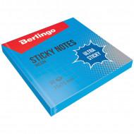 """Самоклеящийся блок Berlingo """"Ultra Sticky"""", 75*75мм, 80л, в клетку, синий неон"""