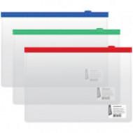 Папка-конверт на молнии Berlingo, A5, 110мкм, прозрачная