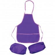 Фартук с нарукавниками ArtSpace, 48,5*39,5см, 2 кармана, фиолетовый