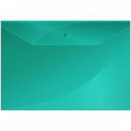Папка-конверт на кнопке OfficeSpace  А4, 150мкм,зелёная