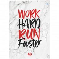 """Тетрадь 48л., А4, клетка BG """"Work hard"""""""