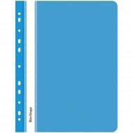 Папка-скоросшиватель пластик. перф. Berlingo, А4, 180мкм, синяя