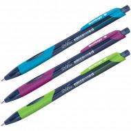 """Ручка шариковая автоматическая Berlingo """"Riteline"""", синяя, 0,7мм, грип, корпус ассорти"""