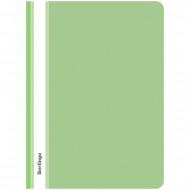 Папка-скоросшиватель пластик. Berlingo, А4, 180мкм, салатовая с прозр. верхом