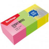 """Самоклеящийся блок Berlingo """"Ultra Sticky"""", 50*40мм, 12 блоков по 80л, 3 неоновых цвета"""