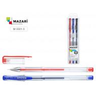 Ручка гелевая в наборе 3цв. NIDEA М-5501-3