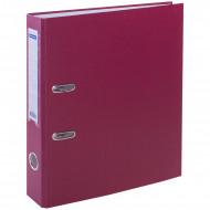 Папка-регистратор OfficeSpace, 50мм, бумвинил, с карманом на корешке, бордовая