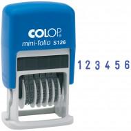 Нумератор мини автомат Colop, 3,8мм, 6 разрядов, пластик