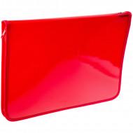 Папка для тетрадей 1 отделение, А4, ArtSpace красная, пластик, молния вокруг